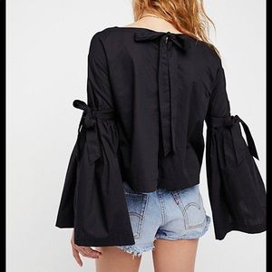 Free People So Obviously Yours Bell Sleeve Top XS